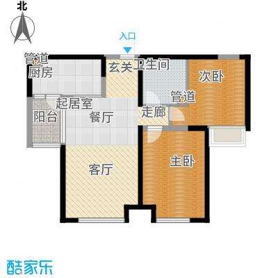 绿地塞尚公馆105.00㎡绿地塞尚公馆户型图A6、A8、A10户型2室2厅1卫户型2室2厅1卫