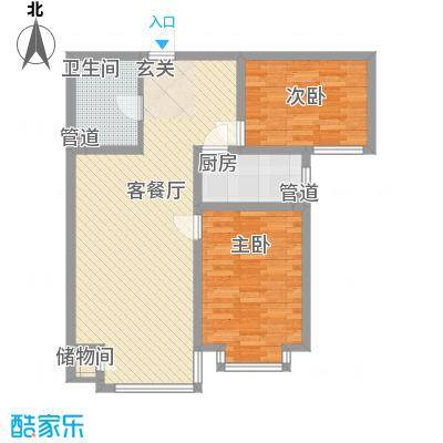 上林湾93.50㎡上林湾户型图24#-3户型2室2厅1卫1厨户型2室2厅1卫1厨