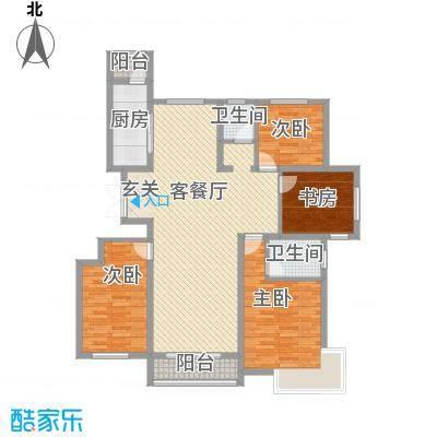 玺园158.17㎡玺园户型图L户型4室2厅2卫1厨户型4室2厅2卫1厨