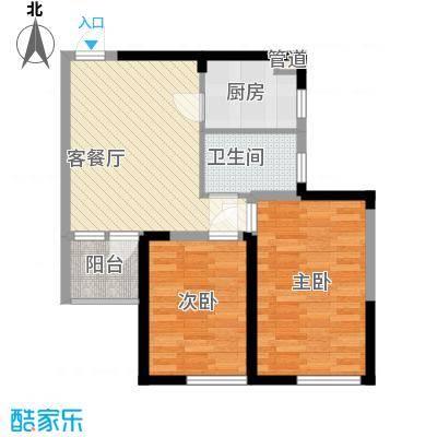 建业时光原著76.00㎡建业时光原著户型图7#楼C32室2厅1卫1厨户型2室2厅1卫1厨