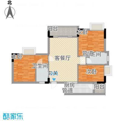翠华花园二期106.14㎡翠华花园二期户型图户型D3室2厅2卫1厨户型3室2厅2卫1厨