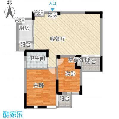 国建香榭水都95.00㎡国建香榭水都2室户型2室