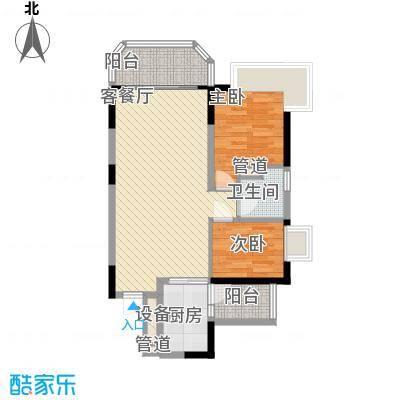 恒大绿洲85.80㎡恒大绿洲户型图6号楼04单位2房2厅1卫85㎡2室2厅1卫1厨户型2室2厅1卫1厨