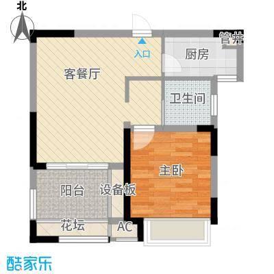 高速滨湖时代广场65.00㎡高速滨湖时代广场户型图G3、G5#楼B2户型1室2厅1卫1厨户型1室2厅1卫1厨