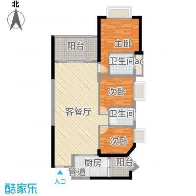 锦绣银湾别墅户型图3房2厅户型图