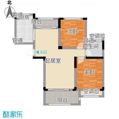 碧桂园滨湖城户型图C16-C户型 2室2厅1卫1厨