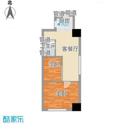 东海精工社61.89㎡东海精工社户型图大麦公寓k户型2室1厅1卫1厨户型2室1厅1卫1厨