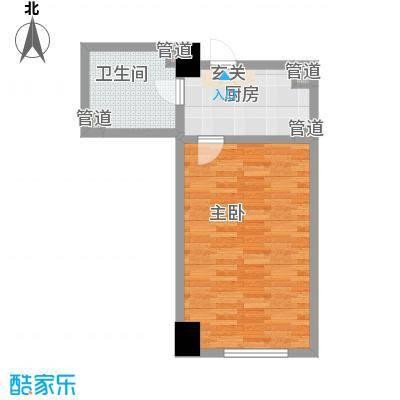 东海精工社59.93㎡东海精工社户型图大麦公寓L户型1室1卫1厨户型1室1卫1厨