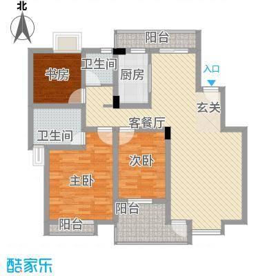 望山公馆127.07㎡望山公馆户型图D户型3室2厅2卫1厨户型3室2厅2卫1厨