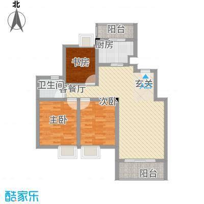 望山公馆103.20㎡望山公馆户型图F户型3室2厅1卫1厨户型3室2厅1卫1厨