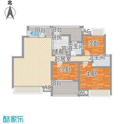 华润澜溪镇143.00㎡华润澜溪镇户型图H5-23室2厅2卫1厨户型3室2厅2卫1厨
