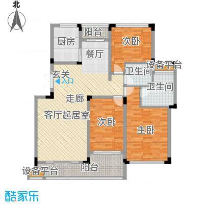 明珠湖畔138.30㎡明珠湖畔户型图20061120-10C户型3室2厅2卫1厨户型3室2厅2卫1厨