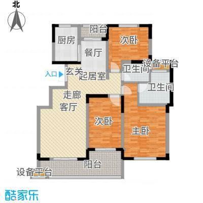 明珠湖畔133.79㎡明珠湖畔户型图20061120-6G户型3室2厅2卫1厨户型3室2厅2卫1厨
