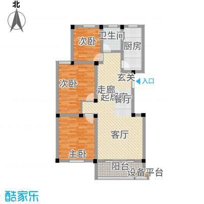 明珠湖畔106.02㎡明珠湖畔户型图20061120-5E户型3室2厅1卫1厨户型3室2厅1卫1厨