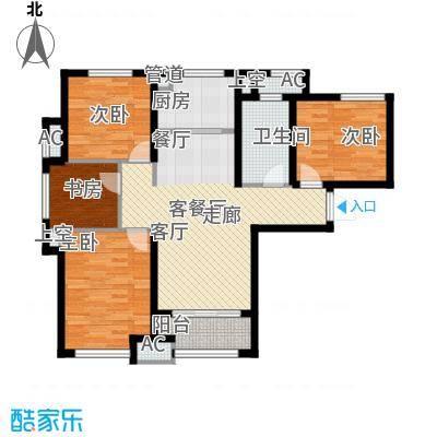 中海�湖墅108.00㎡中海�湖墅户型图揽景御居4室2厅1卫1厨户型4室2厅1卫1厨