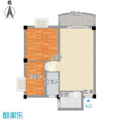 美晨雅阁85.00㎡美晨雅阁2室户型2室
