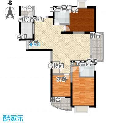 信政天鹅湾143.76㎡信政天鹅湾户型图3室2厅2卫1厨户型10室
