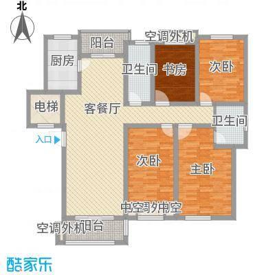 金水湾花园160.00㎡金水湾花园户型图围院房型c4室2厅2卫户型4室2厅2卫
