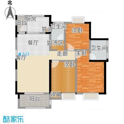 蓝鼎海棠湾127.00㎡蓝鼎海棠湾户型图1#、2#A户型3室2厅2卫1厨户型3室2厅2卫1厨