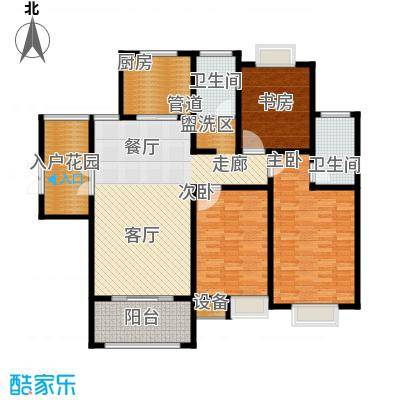 蓝鼎海棠湾128.00㎡蓝鼎海棠湾户型图1#、2#楼B户型3室2厅2卫1厨户型3室2厅2卫1厨