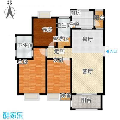 蓝鼎海棠湾128.00㎡蓝鼎海棠湾户型图1#、2#楼A户型3室2厅2卫1厨户型3室2厅2卫1厨