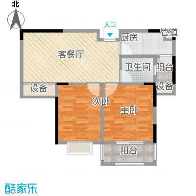五洲幸福湾77.82㎡五洲幸福湾户型图B户型2室2厅1卫户型2室2厅1卫