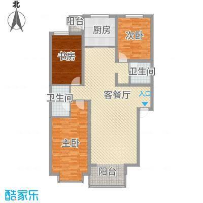 桥华世纪村一期豪华型户型3室2厅2卫1厨