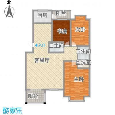 桥华世纪村一期2号楼标准层A户型3室2厅2卫1厨