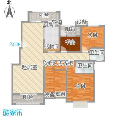 五洲幸福湾144.66㎡五洲幸福湾户型图G户型4室2厅2卫户型4室2厅2卫