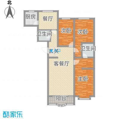 阳光明座146.64㎡阳光明座户型图户型图3室1厅2卫1厨户型3室1厅2卫1厨