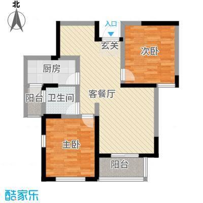御景前城87.00㎡御景前城户型图B户型2室2厅1卫1厨户型2室2厅1卫1厨