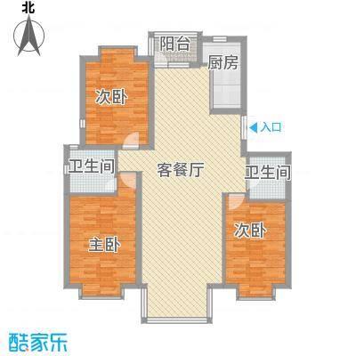 兴泰东河湾151.00㎡兴泰东河湾户型图R3-53室2厅2卫1厨户型3室2厅2卫1厨