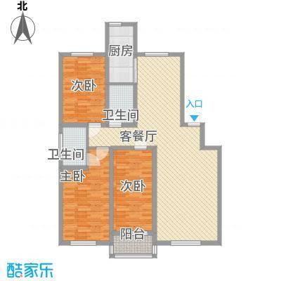 南艳滨湖时光120.00㎡南艳滨湖时光3室户型3室