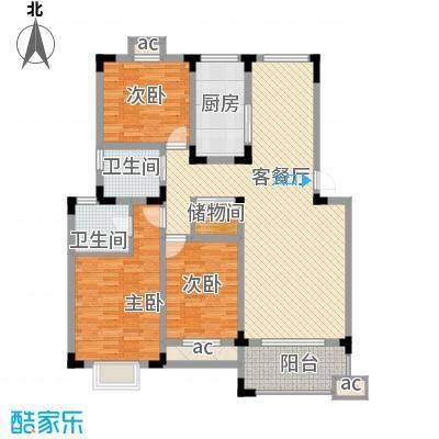 翡翠花园115.00㎡翡翠花园3室户型3室