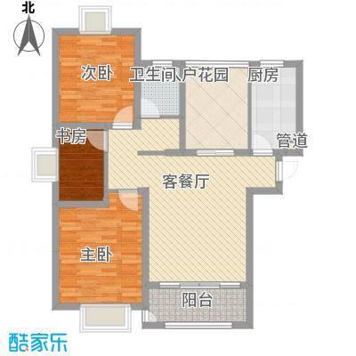华地紫园户型图22#楼A1户型 4室2厅1卫1厨