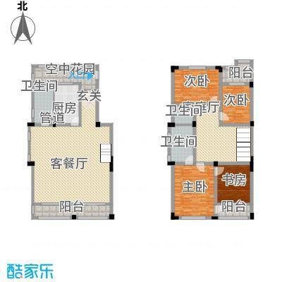 翡翠花园194.00㎡翡翠花园4室户型4室