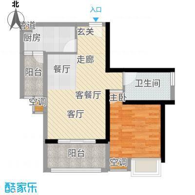 御龙湾67.56㎡御龙湾户型图E4户型1室2厅1卫1厨户型1室2厅1卫1厨