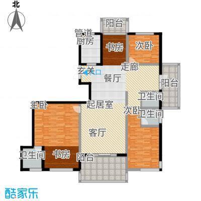国耀一方城国耀一方城户型图34室2厅2卫1厨户型4室2厅2卫1厨