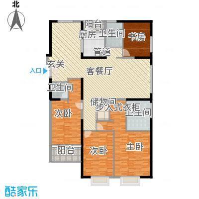 置地广场239.00㎡置地广场户型图g4户型4室2厅3卫1厨户型4室2厅3卫1厨