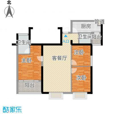 置地广场118.00㎡置地广场户型图G2户型3室2厅2卫1厨户型3室2厅2卫1厨