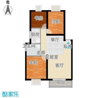 学林雅苑95.47㎡学林雅苑户型图2室2厅2卫1厨户型10室