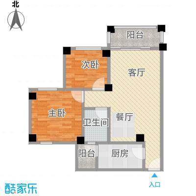 南沙碧桂园64.45㎡户型2室1厅1卫1厨