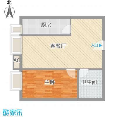 凤凰国际73.69㎡凤凰国际户型图公寓户型B71室2厅1卫1厨户型1室2厅1卫1厨
