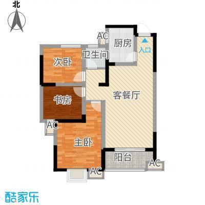 尚泽时代广场102.30㎡尚泽时代广场户型图C23室2厅1卫1厨户型3室2厅1卫1厨