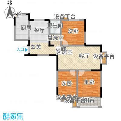 好运理想城121.41㎡好运理想城户型图C户型3室2厅1卫1厨户型3室2厅1卫1厨