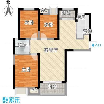 融科城100.00㎡融科城户型图一期B4户型3室2厅1卫1厨户型3室2厅1卫1厨