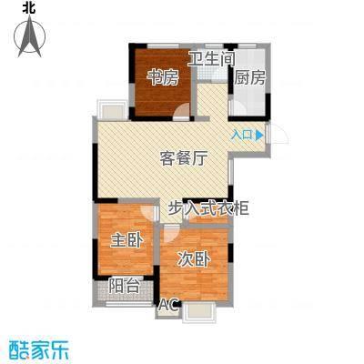 尚泽时代广场110.00㎡尚泽时代广场户型图C33室2厅1卫1厨户型3室2厅1卫1厨