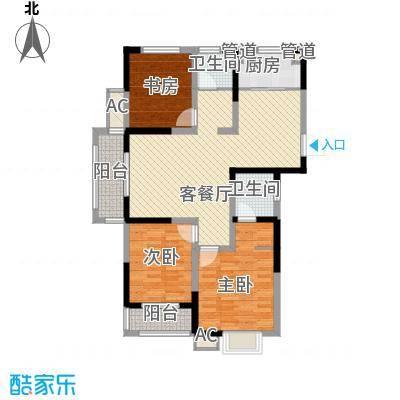 尚泽时代广场116.00㎡尚泽时代广场户型图C13室2厅2卫1厨户型3室2厅2卫1厨