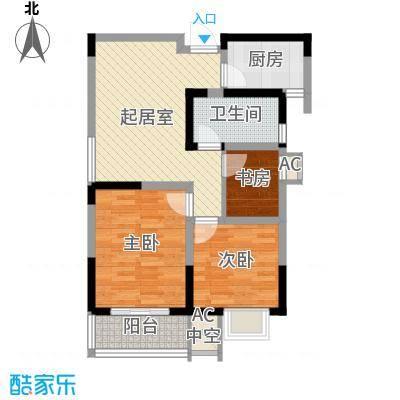 尚泽时代广场79.41㎡尚泽时代广场户型图D32室2厅1卫1厨户型2室2厅1卫1厨
