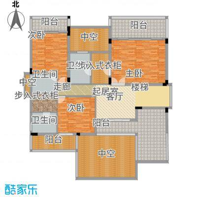 合景天湖峰境301.04㎡合景天湖峰境户型图C-B2a栋二层3室1厅3卫户型3室1厅3卫